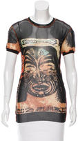 Jean Paul Gaultier Sheer Printed Blouse