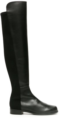 Stuart Weitzman 5050 Leather And Stretch Boots