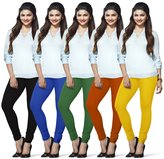 LUX LYRA Women's Indian Churidar Leggings Pack Of 5