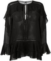 Alberta Ferretti ruffle blouse