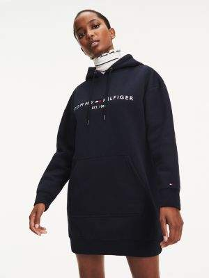Tommy Hilfiger Essential Long Sleeve Hooded Dress