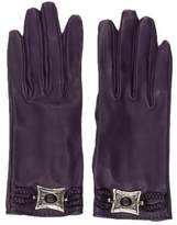 Hermes Medallion Leather Gloves