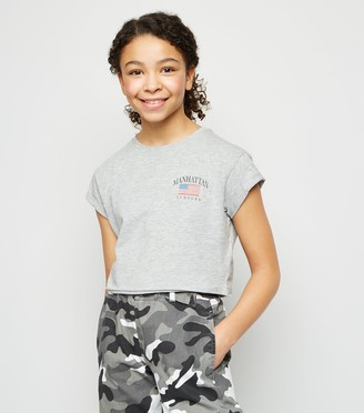 New Look Girls Manhattan Flag T-Shirt