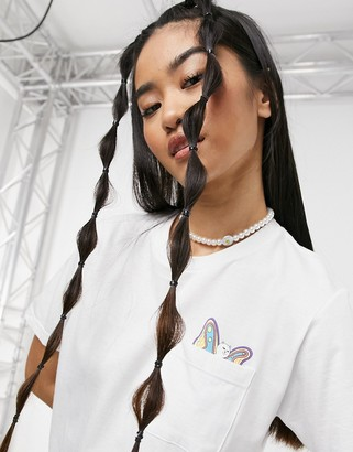 Ripndip Floating Pocket t-shirt in white