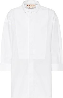Marni Cotton-blend poplin shirt