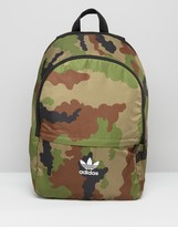 adidas Camo Print Backpack With Trefoil Logo