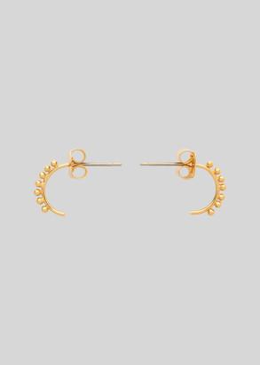 Tiny Studded Curve Earring
