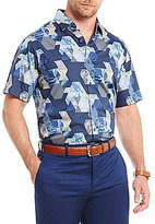 Hart Schaffner Marx Short-Sleeve Printed Camp Shirt