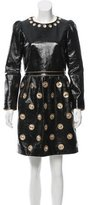Marc Jacobs Embellished Patent Leather Dress w/ Tags