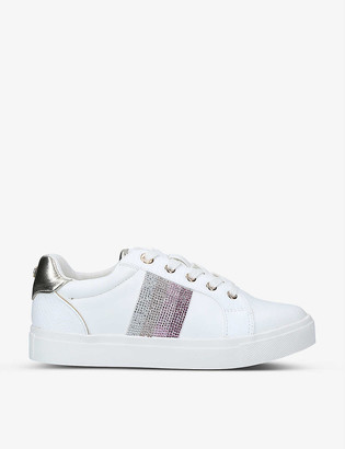 Miss KG Kerry embellished low-top trainers