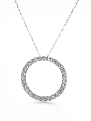 Adriana Orsini Pave Circle Necklace