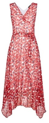 Dorothy Perkins Womens Rose Print Sleeveless Midi Dress