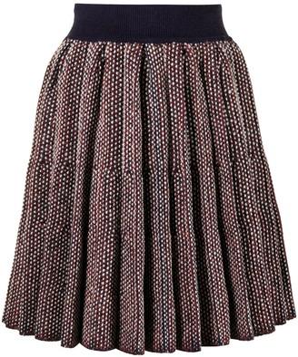 Loewe Pleated Knitted Skirt