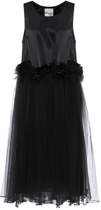 Noir Kei Ninomiya Tulle-trimmed midi dress
