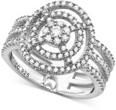 Crislu Platinum over Sterling Silver Cubic Zirconia Orbital Ring (2/3 ct. t.w.)