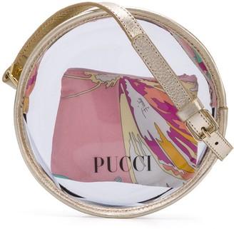 Emilio Pucci Junior round PVC shoulder bag