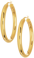 Argentovivo 18K Gold Plated Sterling Silver Thick 44mm Hoop Earrings