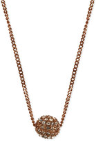 Givenchy Necklace, Rose Gold-Tone Crystal Fireball Pendant Necklace