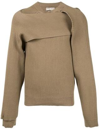 Bottega Veneta Twisted Detail Knitted Jumper