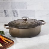 Crate & Barrel Le Creuset ® Signature 3.5-Qt. Oval Truffle Brown French Oven with Lid