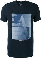 Armani Jeans graphic logo T-shirt - men - Cotton/Spandex/Elastane - L