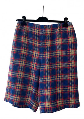 Gucci Blue Linen Shorts