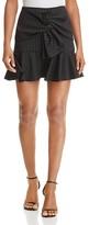 Aqua Pinstriped Twist-Front Skirt - 100% Exclusive