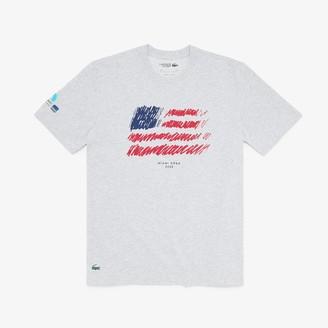 Lacoste Men's SPORT Miami Open Flag Print T-shirt
