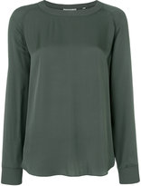 Vince ribbed crew neck blouse
