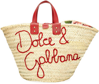 Dolce & Gabbana The Kendra Straw Tote Bag