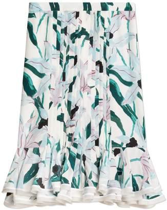 Tory Burch Printed Ruffle Skirt