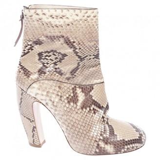 Miu Miu Multicolour Leather Ankle boots