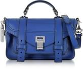 Proenza Schouler PS1+ Tiny Lapis Leather Flap Handbag