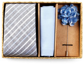 Original Penguin Sportswear Stripe Tie, Pocket Square, & Lapel Pin Box Set