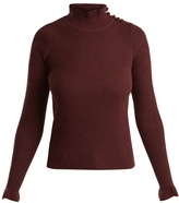 See by Chloe Ruffled high-neck wool sweater