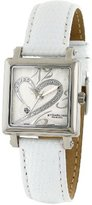 """Stuhrling Original Women's 253.1115P2 """"Amour Aphrodite"""" Diamond-Accented Stainless Steel Watch with Leather Band"""
