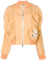 Aalto ruched bomber jacket