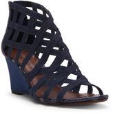 Donald J Pliner Women's JORDA - Basic Elastic and Florentine Snake Wedge Sandal