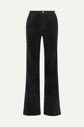 J Brand Joan Velvet Wide-leg Pants - Black