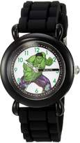 Marvel Boy's 'Hulk' Quartz Plastic and Silicone Casual Watch, Color: (Model: WMA000029)