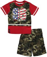 "Enyce Little Boys' Toddler ""Fly the Flag"" 2-Piece Outfit"