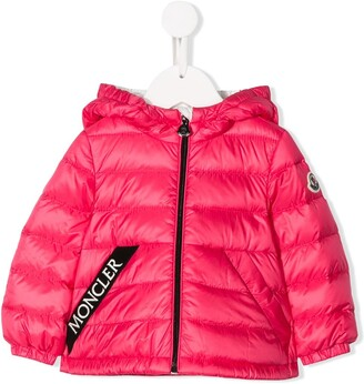 Moncler Enfant Logo-Tape Down Jacket