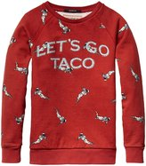 Scotch & Soda Kids Allover Print Crewneck Sweatshirt (Kid) - Taco Red-4