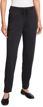 Eileen Fisher Plus Size Wool Jersey Jogger Pants