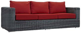 Modway Outdoor Summon Outdoor Patio Wicker Rattan Sunbrella Sofa