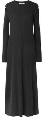 Marques Almeida Marques' Almeida Cutout Ribbed Merino Wool Maxi Dress