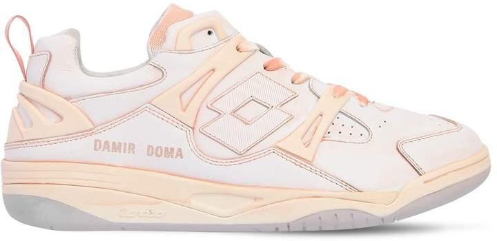 Damir Doma Logo Leather & Nylon Tennis Sneakers