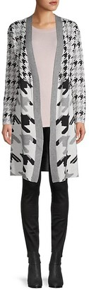 Joseph A Max Houndstooth Duster Cardigan