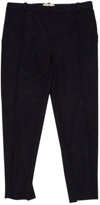 Bouchra Jarrar Navy Wool Trousers