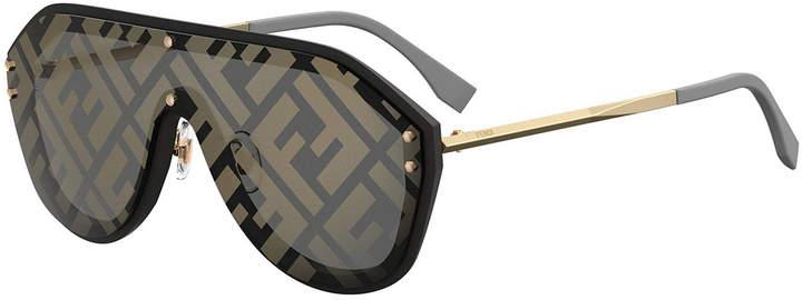 64ffdbbfacee9 Fendi Shield Sunglasses - ShopStyle